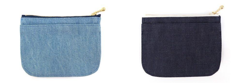 淡色デニムと濃色デニムのミニ財布