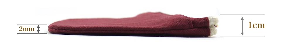 ミニ財布のサイズ(厚み)