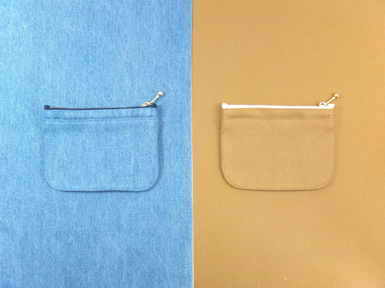 上質なデニムと帆布から生まれたミニ財布