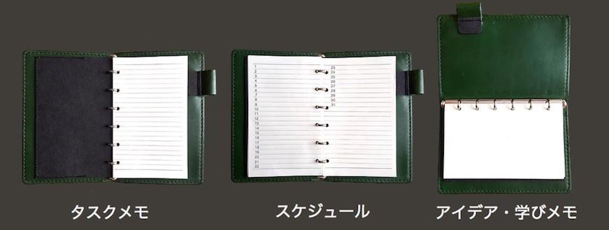 システム手帳は使い方はいろいろあります。