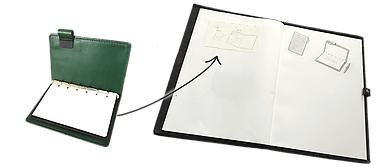 システム手帳に書いてノートにまとめる