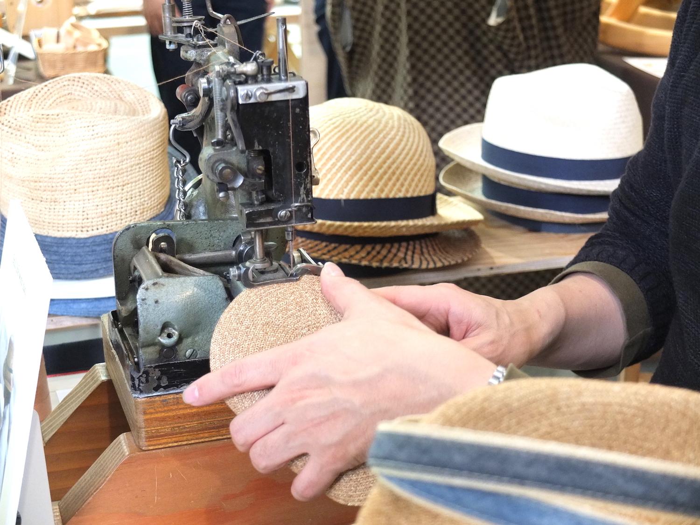 石田製帽の帽子作り
