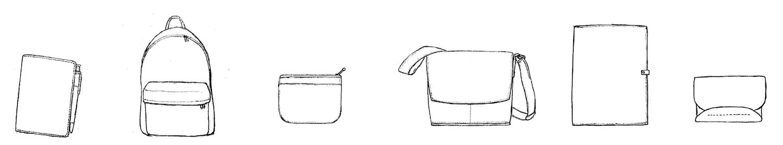 SIRUHAのバッグと手帳と小物